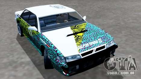 Sultan 4 Drift Drivers V2.0 para GTA San Andreas traseira esquerda vista