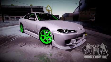 Nissan Silvia S15 Drift Monster Energy para GTA San Andreas esquerda vista