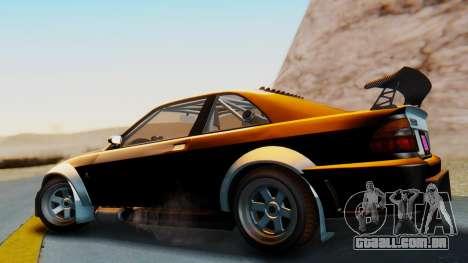 GTA 5 Karin Sultan RS Carbon IVF para GTA San Andreas esquerda vista