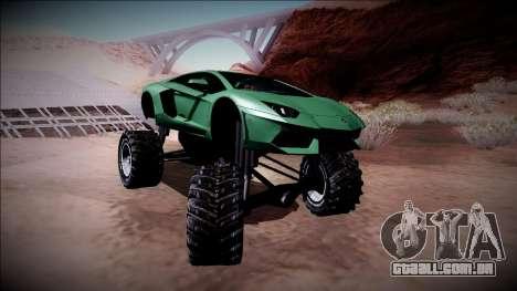 Lamborghini Aventador Monster Truck para vista lateral GTA San Andreas