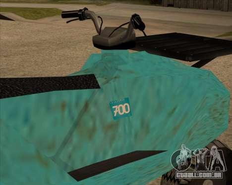 QuadNew v1.0 para GTA San Andreas traseira esquerda vista