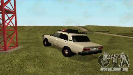 VAZ 2107 4x4 para GTA San Andreas traseira esquerda vista