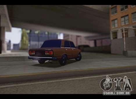 VAZ 2107 Oper para GTA San Andreas traseira esquerda vista