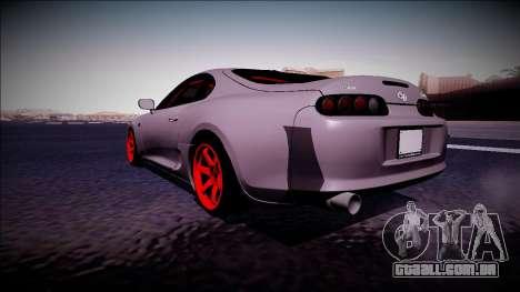 Toyota Supra Drift Monster Energy para GTA San Andreas traseira esquerda vista