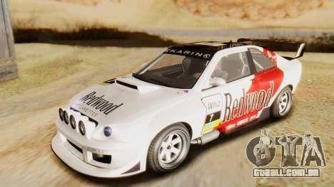 GTA 5 Karin Sultan RS IVF para GTA San Andreas vista superior