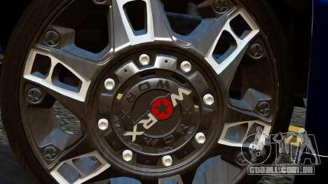 Chevrolet Cheyenne 2012 Dually para GTA San Andreas traseira esquerda vista