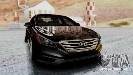 Hyundai Sonata Turbo 2015 para GTA San Andreas vista direita