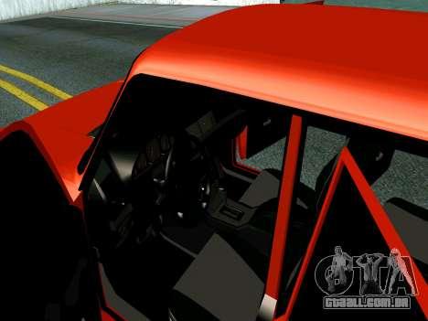 VAZ 2107 Rang Rover Edition para GTA San Andreas vista interior