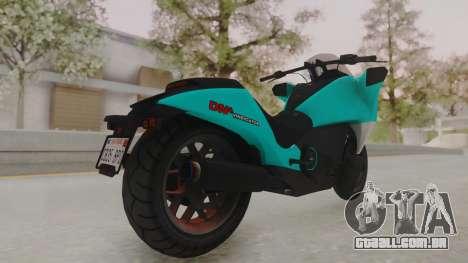 GTA 5 Dinka Vindicator SA Light para GTA San Andreas traseira esquerda vista