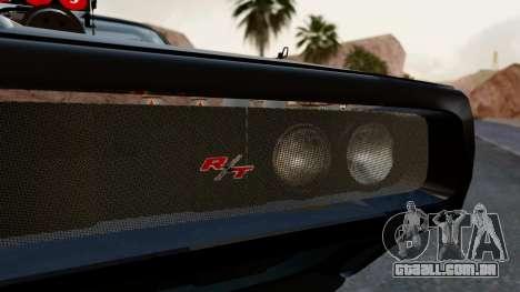 Dodge Charger from FnF4 para GTA San Andreas vista interior