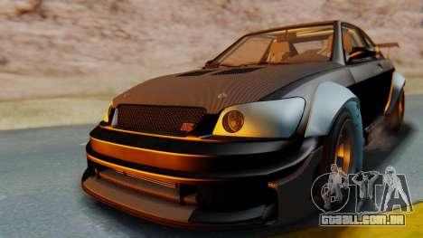 GTA 5 Karin Sultan RS Carbon IVF para GTA San Andreas vista direita