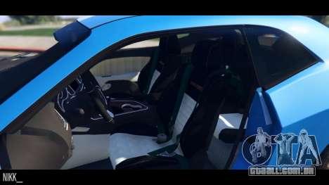 GTA 5 Dodge Challenger 2015 traseira direita vista lateral