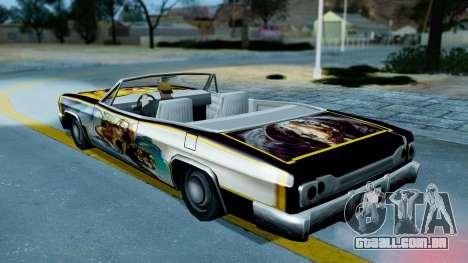 Slamvan New PJ para GTA San Andreas vista traseira