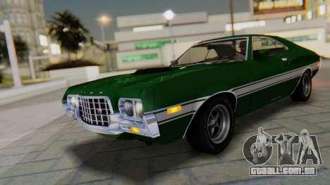 Ford Gran Torino Sport SportsRoof (63R) 1972 PJ1 para GTA San Andreas vista inferior