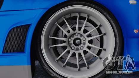 Nissan Skyline R34 Full Tuning para GTA San Andreas traseira esquerda vista