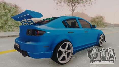 Mazda 3 Full Tuning para GTA San Andreas esquerda vista