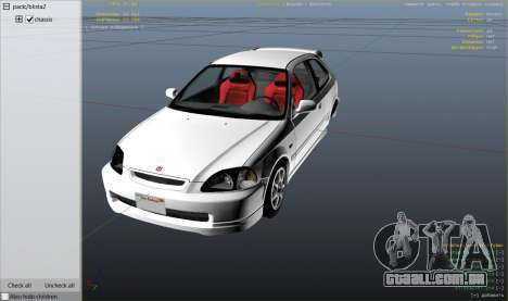 GTA 5 Honda Civic Type-R EK9 vista lateral direita