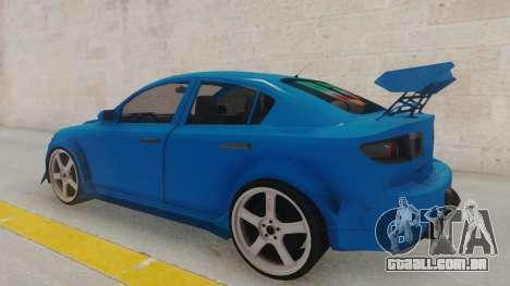 Mazda 3 Full Tuning para GTA San Andreas traseira esquerda vista