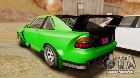 GTA 5 Karin Sultan RS IVF para GTA San Andreas esquerda vista