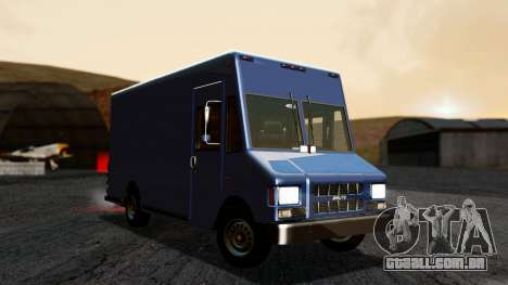 Boxville from GTA 5 without Dirt para GTA San Andreas vista direita