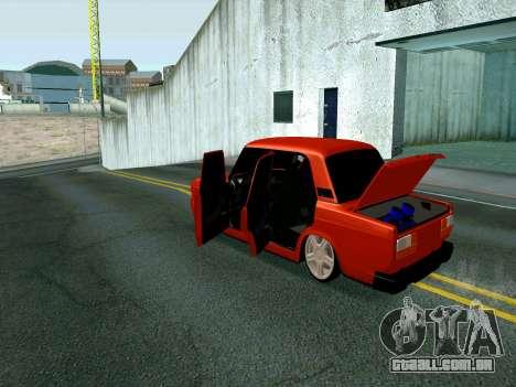 VAZ 2107 Rang Rover Edition para GTA San Andreas vista direita