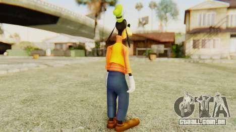 Kingdom Hearts 2 Goofy para GTA San Andreas terceira tela