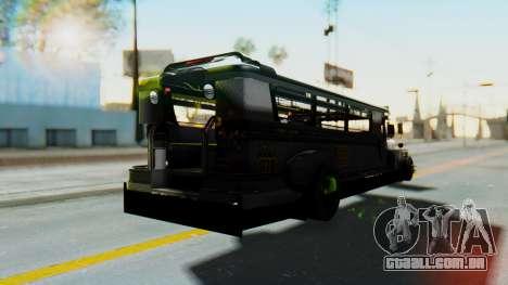 LGS Motors Eggtype Jeepney para GTA San Andreas traseira esquerda vista