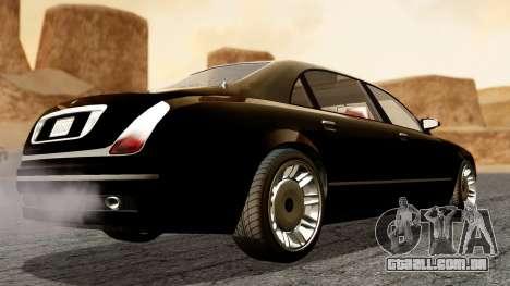 GTA 5 Enus Cognoscenti L para GTA San Andreas esquerda vista