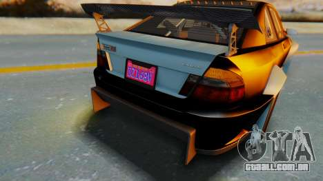 GTA 5 Karin Sultan RS Carbon IVF para GTA San Andreas vista interior