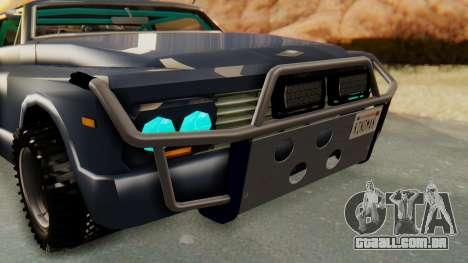 Slamvan v2.0 para GTA San Andreas vista traseira