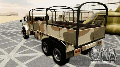 Barracks from GTA 5 para GTA San Andreas esquerda vista