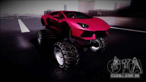 Lamborghini Aventador Monster Truck para GTA San Andreas vista direita