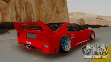 Turismo Saber X para GTA San Andreas esquerda vista