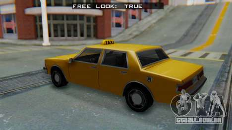 Taxi Version of LV Police Cruiser para GTA San Andreas traseira esquerda vista