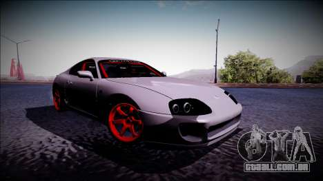 Toyota Supra Drift Monster Energy para GTA San Andreas esquerda vista