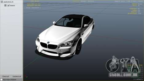 GTA 5 2013 BMW M6 Coupe vista lateral direita