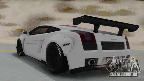 Lamborghini Gallardo 2005 LW LB Performance para GTA San Andreas esquerda vista