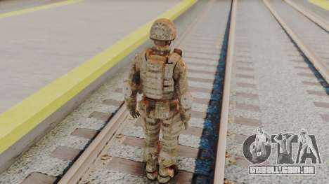 US Army Multicam Soldier from Alpha Protocol para GTA San Andreas terceira tela
