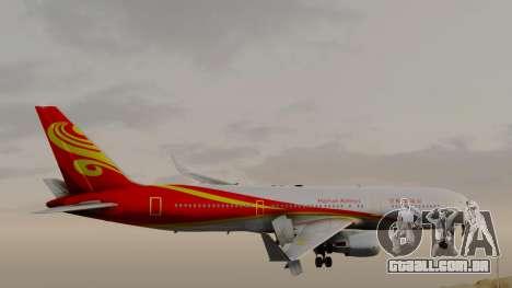 Boeing 767-300ER Hainan Airlines para GTA San Andreas traseira esquerda vista
