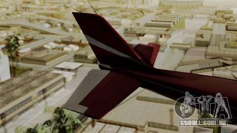 GTA 5 Jobuilt Mammatus para GTA San Andreas traseira esquerda vista