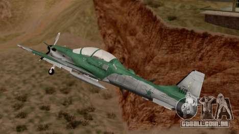 A-29B Embraer Super Tucano para GTA San Andreas traseira esquerda vista