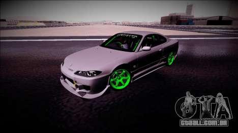 Nissan Silvia S15 Drift Monster Energy para GTA San Andreas vista interior