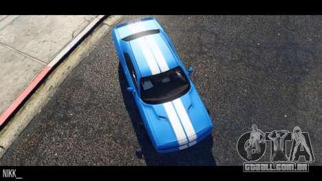 GTA 5 Dodge Challenger 2015 vista lateral esquerda