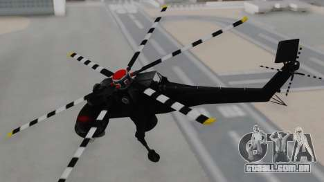 GTA 5 HVY Skylift para GTA San Andreas traseira esquerda vista
