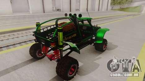 Mudmonster para GTA San Andreas traseira esquerda vista
