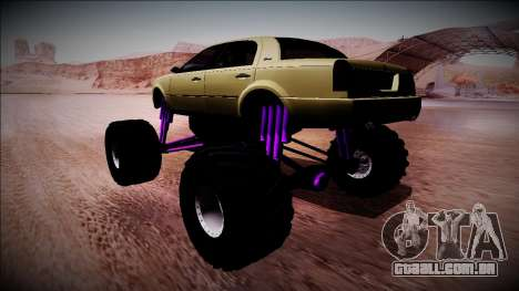 GTA 4 Washington Monster Truck para GTA San Andreas esquerda vista
