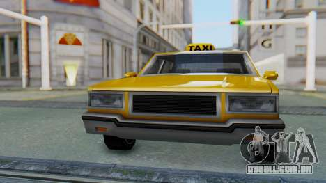 Taxi Version of LV Police Cruiser para GTA San Andreas vista direita