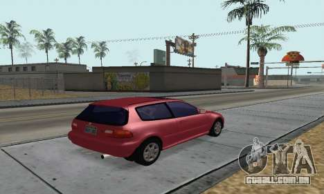 Honda Civic EG6 Tunable para GTA San Andreas esquerda vista