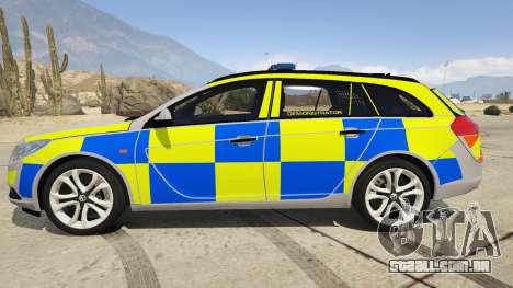 GTA 5 Police Vauxhall Insignia Estate vista lateral esquerda