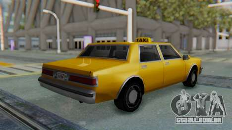 Taxi Version of LV Police Cruiser para GTA San Andreas esquerda vista